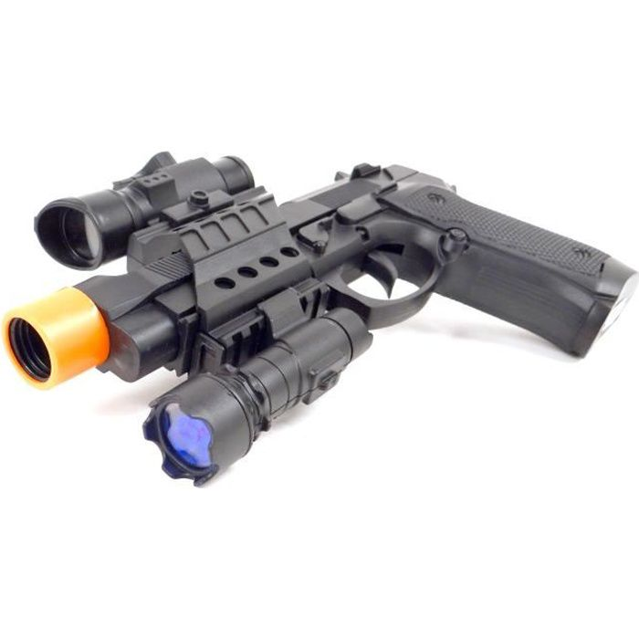 PISTOLET BILLE MOUSSE WONDERKIDS - Pistolet 22,5cm Son et Lumière