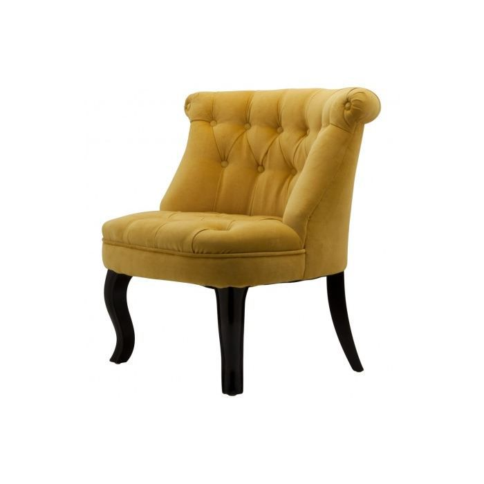 fauteuil crapaud capitonn trianon velours jaune achat vente fauteuil jaune cdiscount. Black Bedroom Furniture Sets. Home Design Ideas