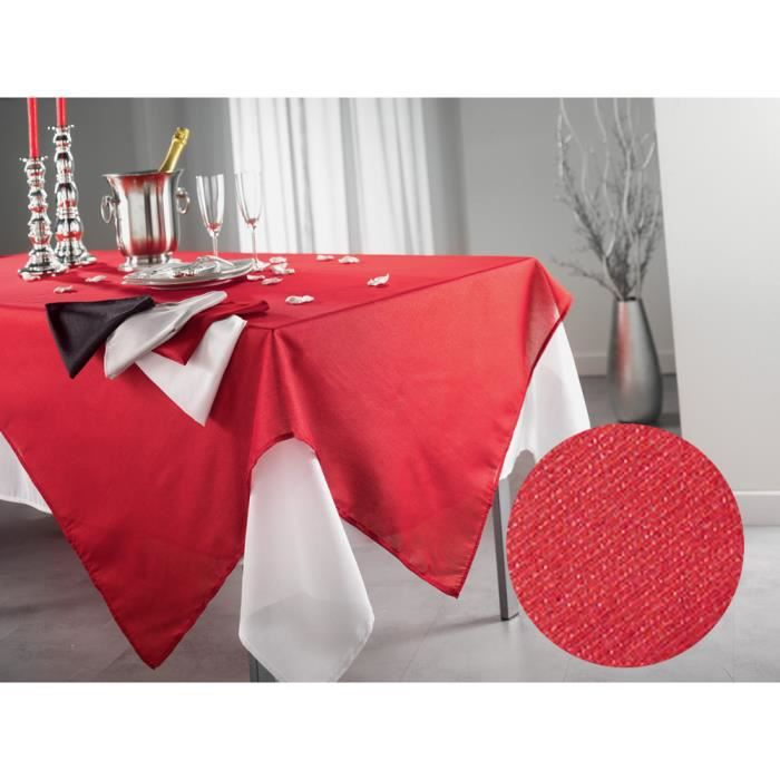 Nappe rectangulaire rouge 140x300 - Achat / Vente Nappe ...