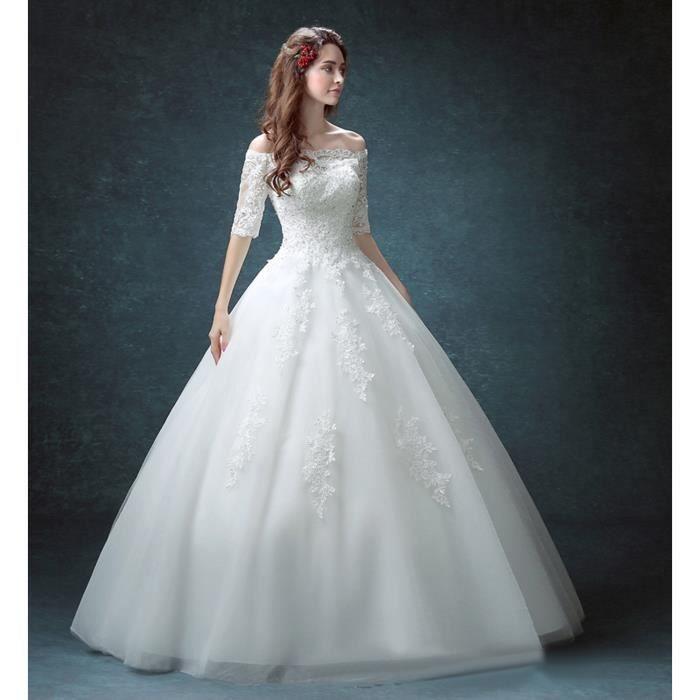 Robe de mariée-mariage longue du plancher