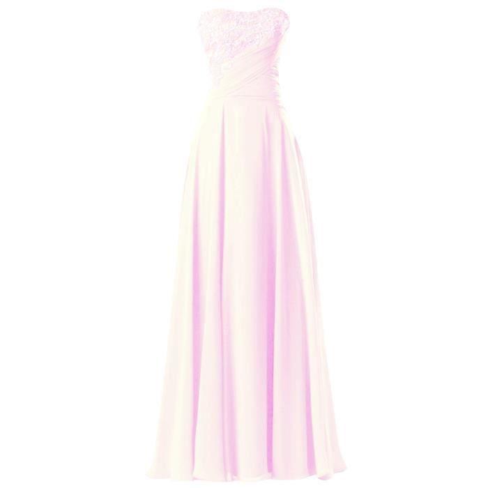 Robe De Soiree Rose Pale Achat Vente Pas Cher