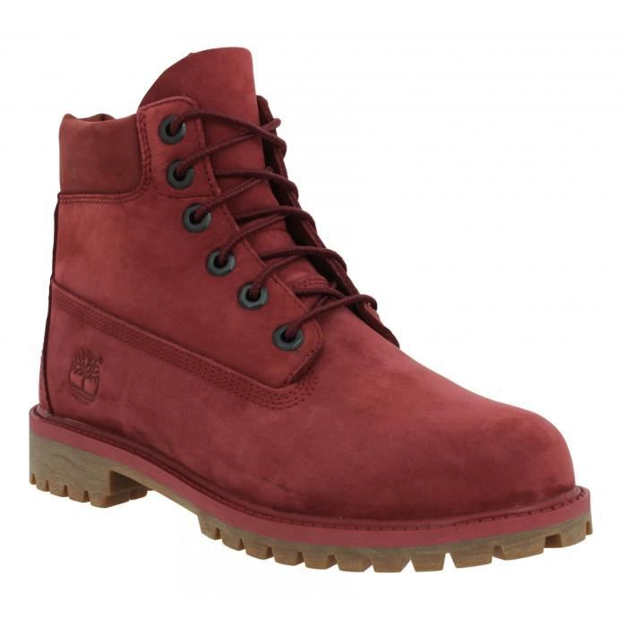Bottines TIMBERLAND 6in Premium WP velours Femme-35,5-Bordeaux Rouge ... 3bc8560e60dc