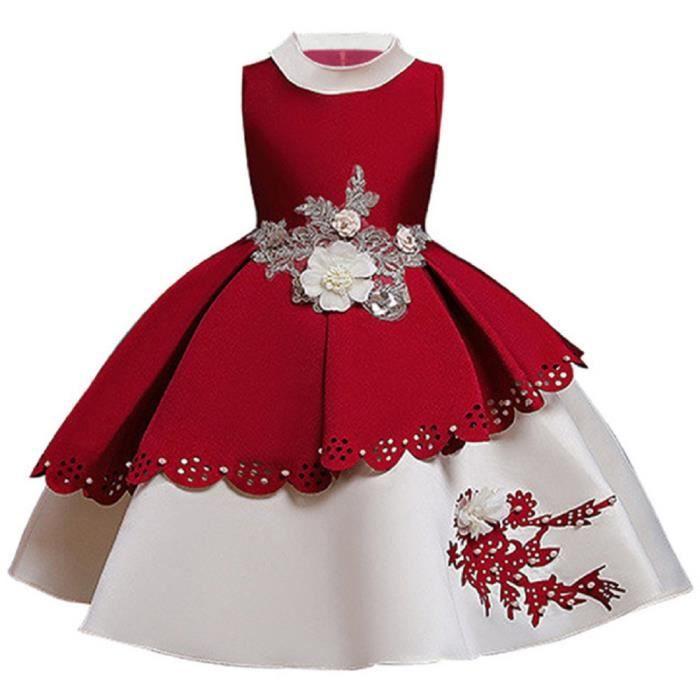 Filles Polka Dot Robe et bolero Set Rouge//Blanc Fête Mariage Formel