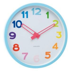 horloge murale enfant rainbow achat vente horloge plastique cdiscount. Black Bedroom Furniture Sets. Home Design Ideas