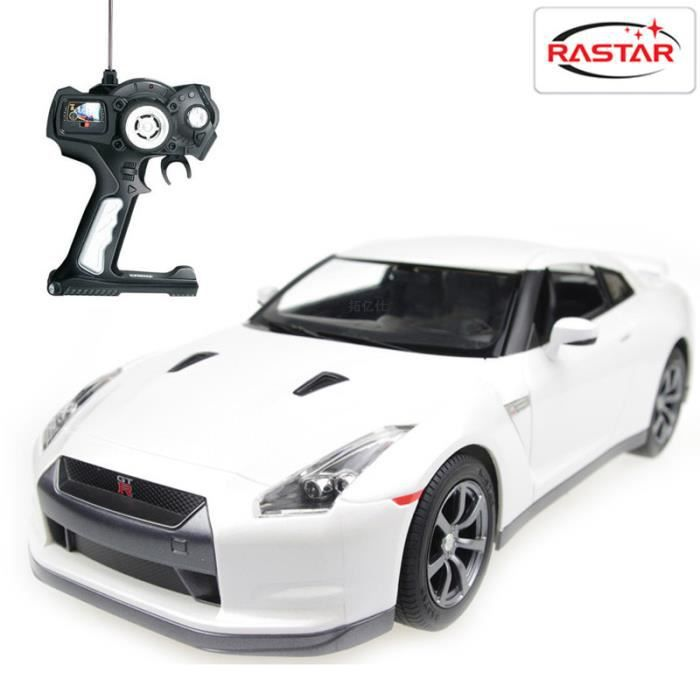 voiture t l command e nissan gt r 1 14 blanche achat. Black Bedroom Furniture Sets. Home Design Ideas