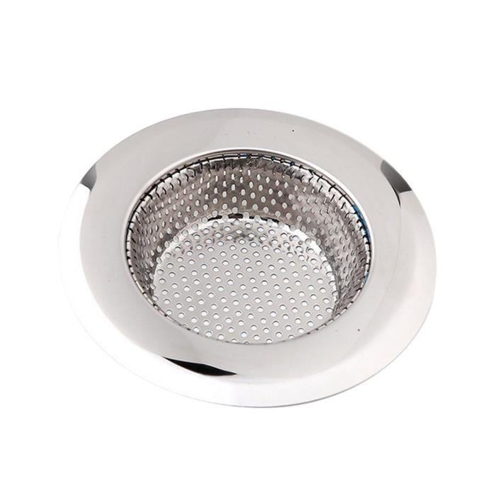 2 x grilles /évier en acier inoxydable 7 cm