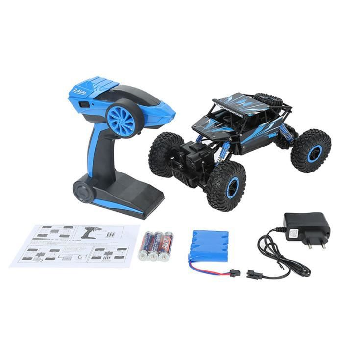 bleu 2 4 ghz voiture electrique rc t l commande 4wd d 39 escalade 4x4 double motors jouet cadeau. Black Bedroom Furniture Sets. Home Design Ideas