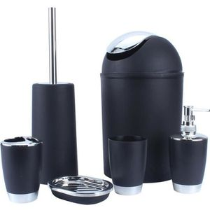 SET ACCESSOIRES 6pcs salle de bains accessoire set poubelle porte-
