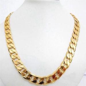 CHAINE DE COU SEULE collier massif pour hommes en or 18 carats plaqué