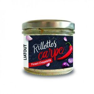 PATE - RILLETTE  Rillette carpe et piment d' Espelette  90 grs