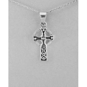 Sterling Silver religieux croix celtique 20 x 13 mm Pendentif garçons filles ou femmes