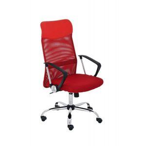 CHAISE DE BUREAU Fauteuil chaise de bureau en maille rouge avec 5 r