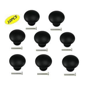 Bouton Boutons 10 Pièce noir brillant Boutons 28 mm grand #2604#