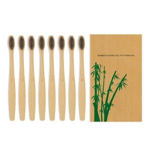 BROSSE A DENTS PULSEUR Brosse à dents au bambou charbon de bois TriLink -
