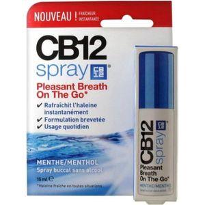 BAIN DE BOUCHE CB12 Spray Buccal Sans Alcool Menthe-Menthol 15ml