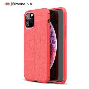COQUE - BUMPER Coque Apple iPhone 11 Pro 2019,Rouge Classique Min