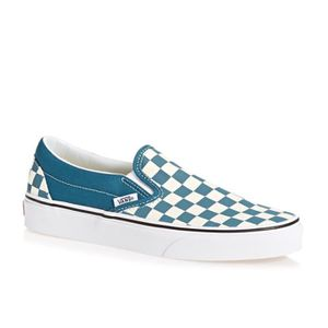 Vans UA Classic Slip On Shoes Bleu blanc - Achat / Vente ...