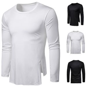 CHEMISIER - BLOUSE T-shirt Slim Fit-O Hauts manches longues Muscle Ca