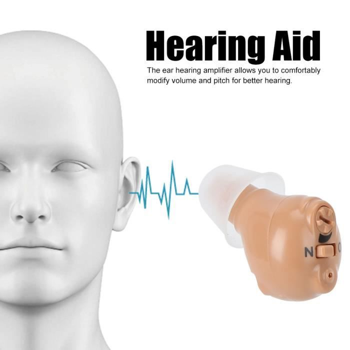 Appareil auditif Dans l'oreille Type d'aide auditive Amplificateur d'oreille dissimulé Outil d'amélioration l'audition UE 100-240V