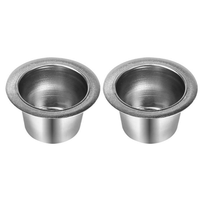 2 pcs Capsules de Café Rechargeable En Acier Inoxydable Réutilisable Durable Filtre Tasse Espresso Capsule Cafetière pour CAFE