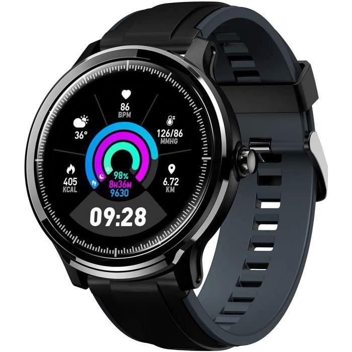 Montre Connectée Homme GOKOO Smartwatch Full Tactile Montre Sport Moniteur de Fréquence Cardiaque Calories Fitness Tracker Etanche I