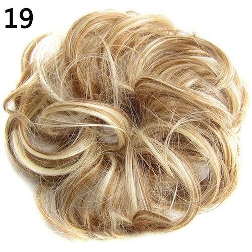 Extensions synthétiques Chignon et boucles ondulées pour femmes à la mode, postiche Chignon, couvre chef~19 DY4555
