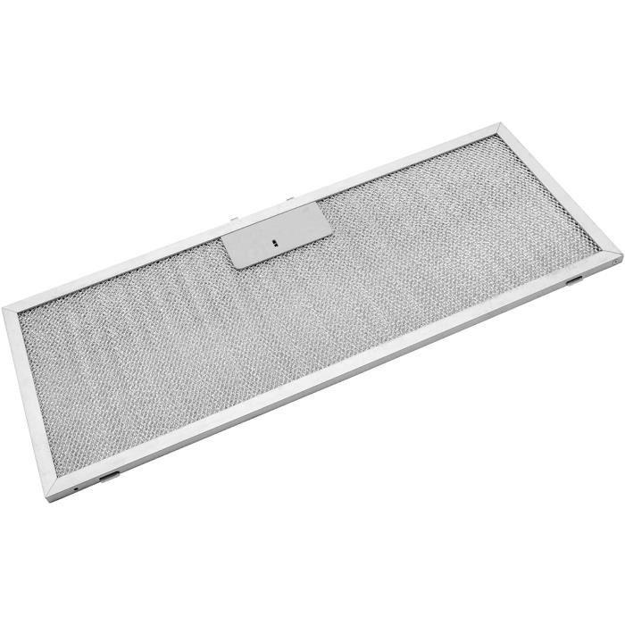vhbw Filtrepermanent filtre à graisse métallique 45,9 x 17,7 x 0,85 cm convient pour Whirlpool AKR 650, AKR 769, AKR 770, AKR 7 A303