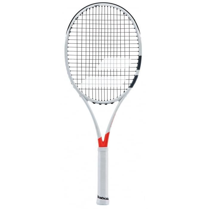 Babolat Pure Strike Team Strung Raquette de Tennis Unisexe Adulte, Pure Strike Team Strung, Blanc-Rouge