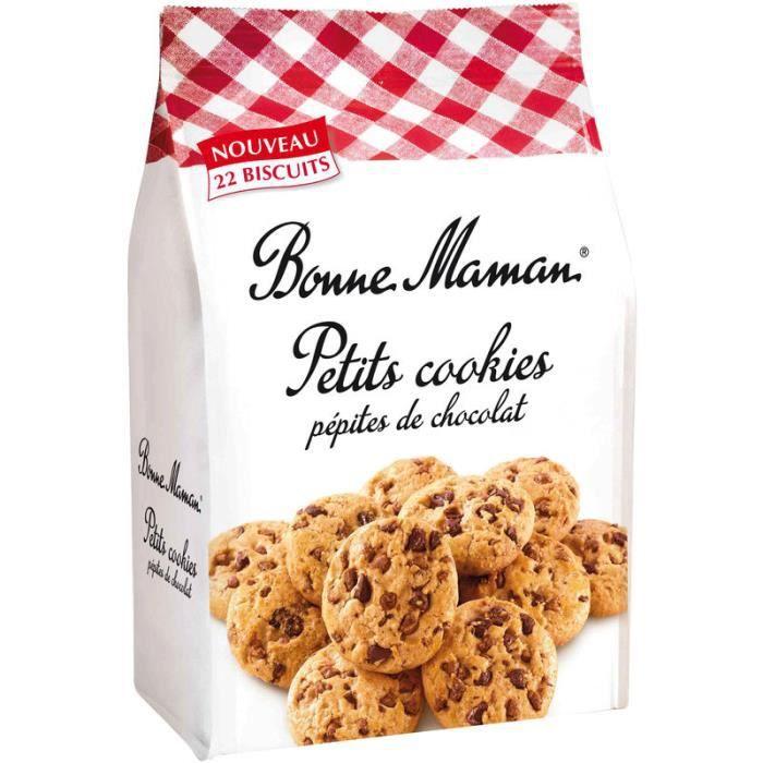 BONNE MAMAN Petits cookies pépites de chocolat - 250 g