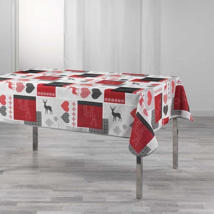 Nappe rectangulaire 150x240 cm Valtho rouge 150 x 240 Rouge