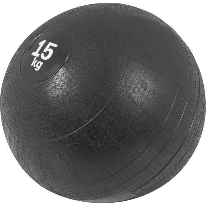 Gorilla Sports - Slam Ball Caoutchouc de 3kg à 20Kg - 15 KG
