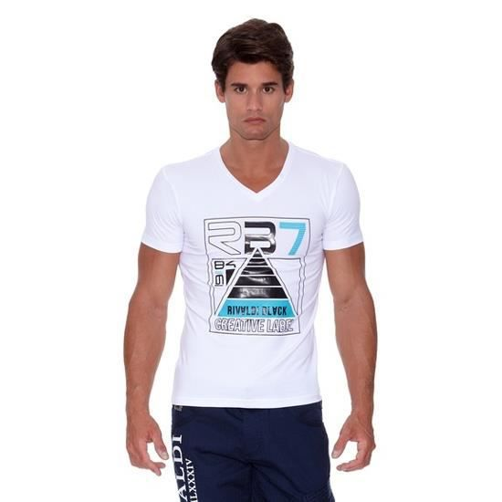 RIVALDI - T-shirt Modi Blanc