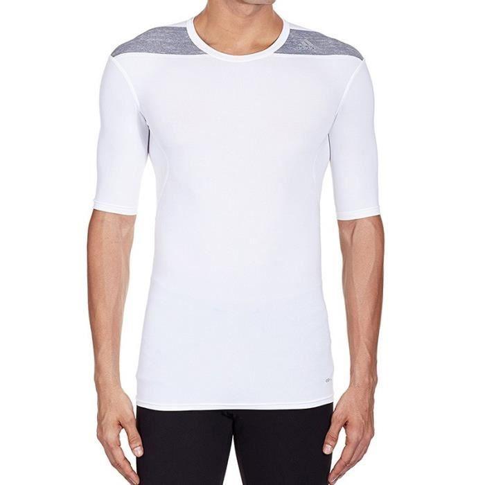 Tee Shirt TechFit Base SS Running Homme Adidas