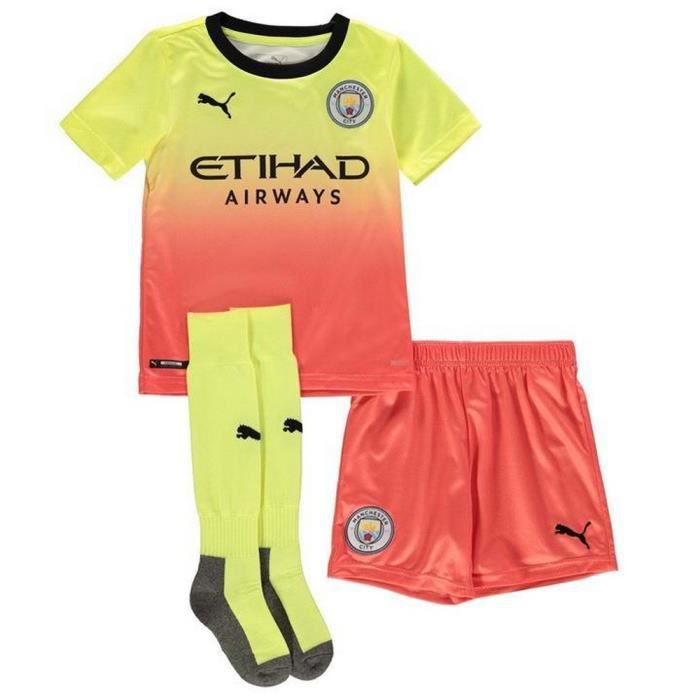 Mini-Kit Officiel Enfant Puma Manchester City Third Saison 2019-2020
