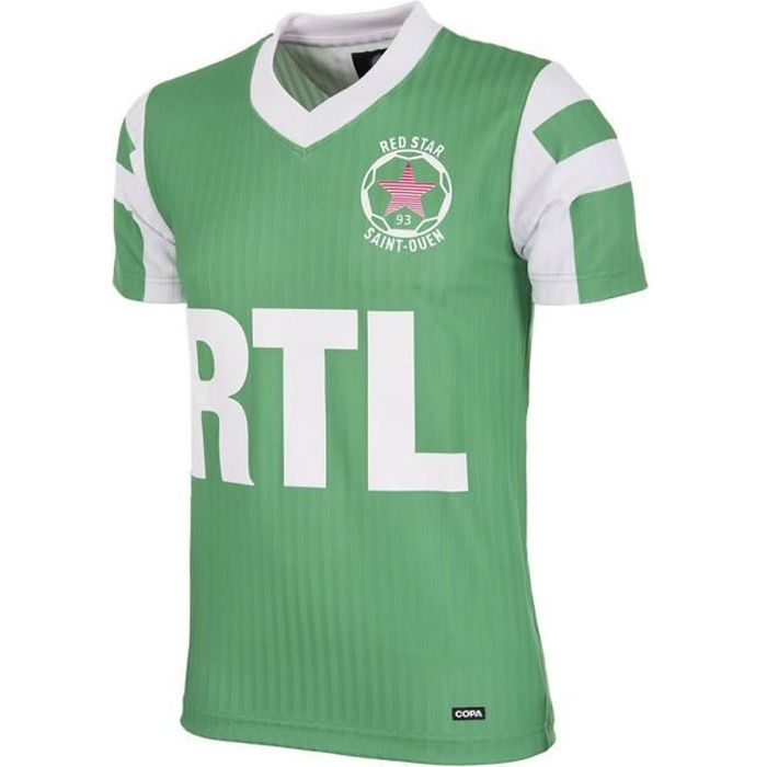 Maillot Red Star F.C 1991-92 Retro - vert/blanc - L