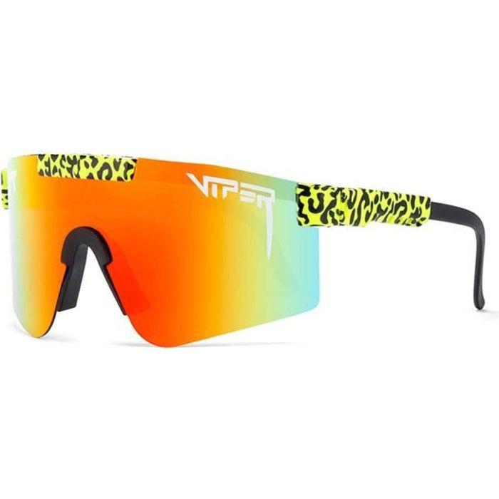 Pit Viper Lunettes de soleil polarisées UV400 TR90 anti-UV, lunettes de soleil d'extérieur pour homme et femme pour course à pied, p