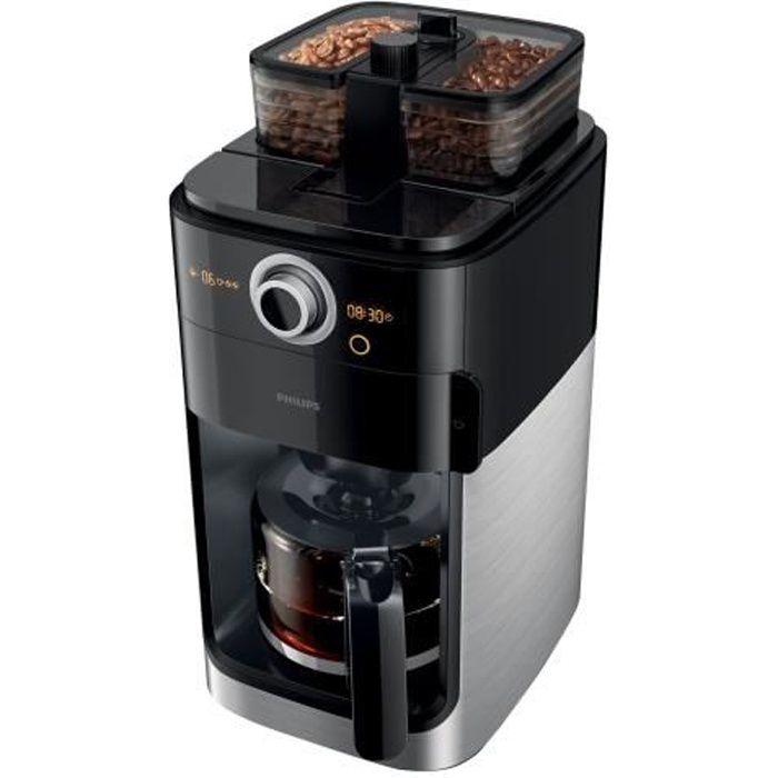 Philips Grind & Brew HD7769 Cafetière 12 tasses Métallique-noir