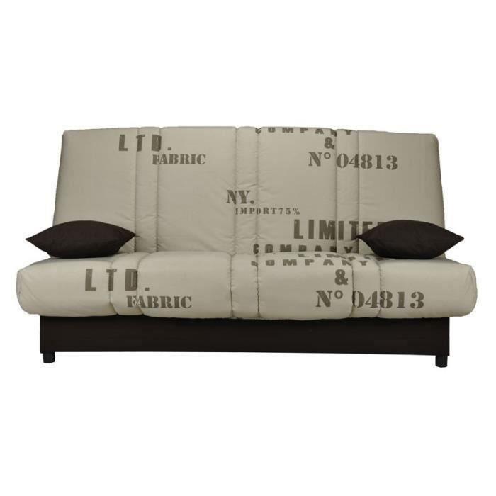 Banquette-lit clic-clac matelas HR 130 cm - KARI n°1 - L 193 x l 95 x H 101 cm
