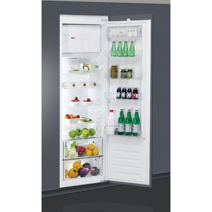WHIRLPOOL - ARG18470A+ - Réfrigérateur armoire encastrable - 292 L (262L + 30L) - Froid brassé - A+ - L54cm x H177,1cm - Blanc