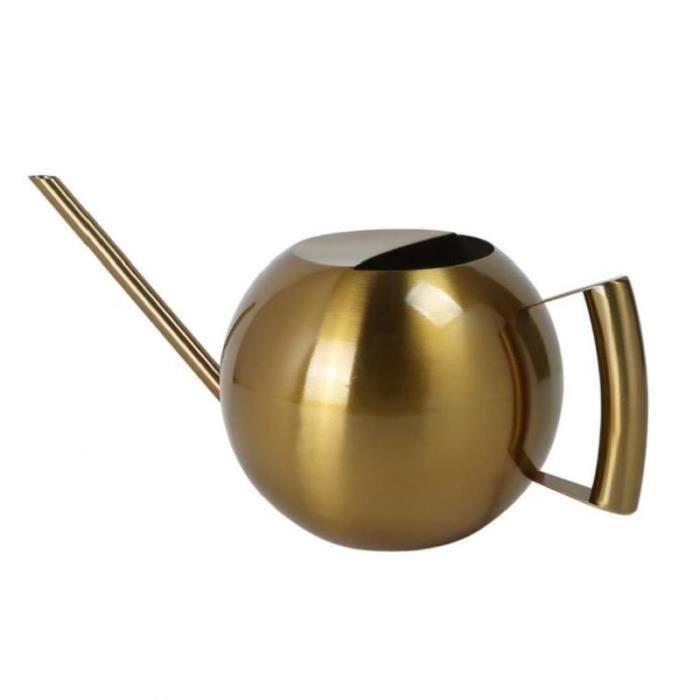DZ23964-Pot d'arrosage en acier inoxydable Mini Pot d'arrosage à longue oreille pour plante extérieure intérieure arrosoir doré