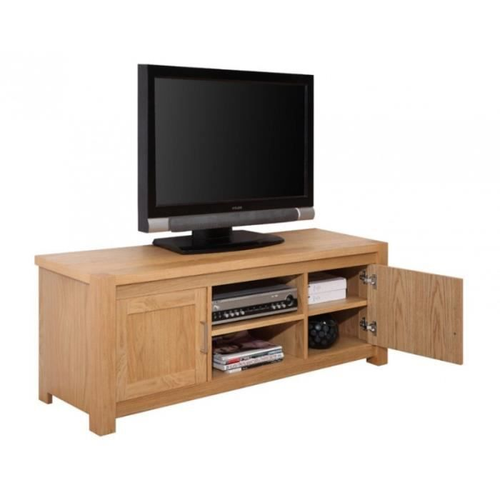 meuble banc tv hifi ch ne clair achat vente meuble tv. Black Bedroom Furniture Sets. Home Design Ideas