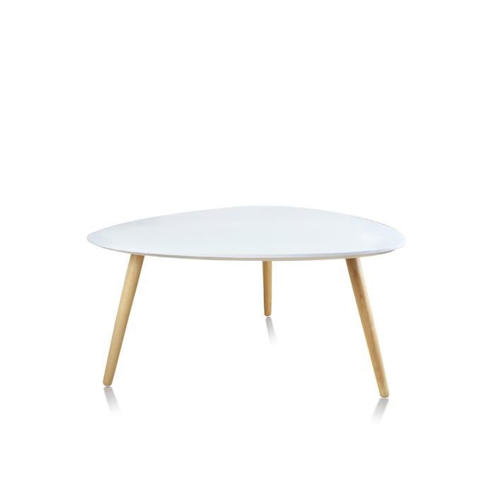 table basse de salon blanche scandinave pristina achat vente table basse table basse. Black Bedroom Furniture Sets. Home Design Ideas