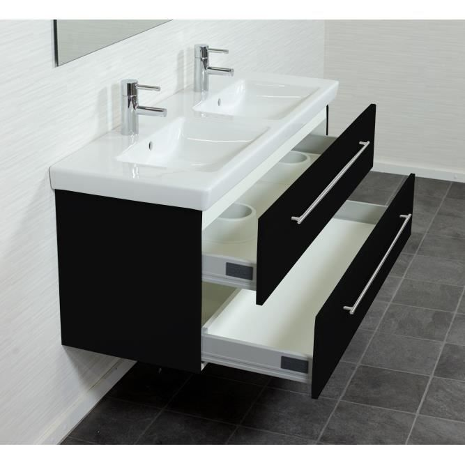 Villeroy boch subway 2 0 130 cm noir aspect a achat for Meuble subway villeroy et boch