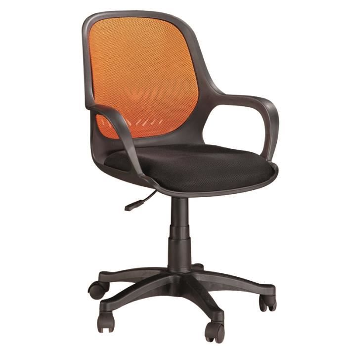 chaise de bureau orange 5 roulettes dimension achat vente chaise de bureau orange cdiscount. Black Bedroom Furniture Sets. Home Design Ideas