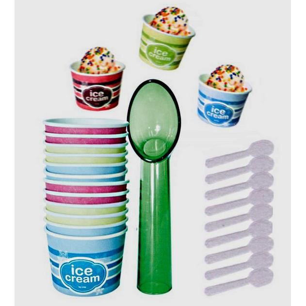 Coffret glaces party 12 pots 12 cuillieres 1 cuill achat for 1 cuillere a table en ml