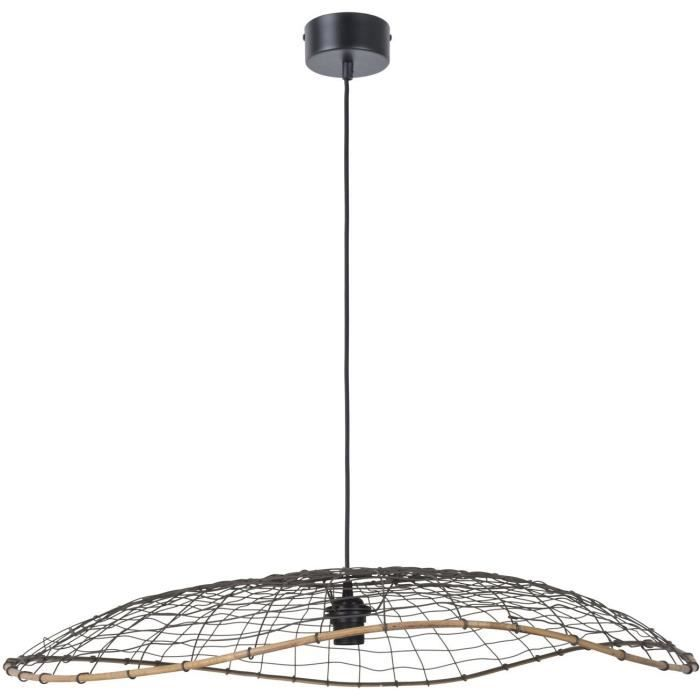 Lanka lustre suspension xxl 80x12 cm tress la main for Lustre ou suspension