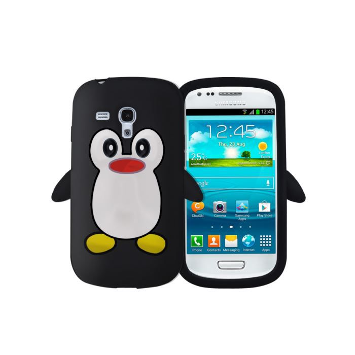 coque samsung galaxy s3 mini pingouin noir achat coque. Black Bedroom Furniture Sets. Home Design Ideas