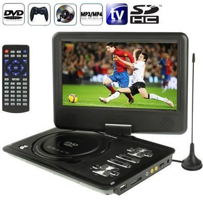 lecteur dvd noir console jeux portable 9 mp3 mp4 tv sd usb lecteur dvd portable avis et. Black Bedroom Furniture Sets. Home Design Ideas