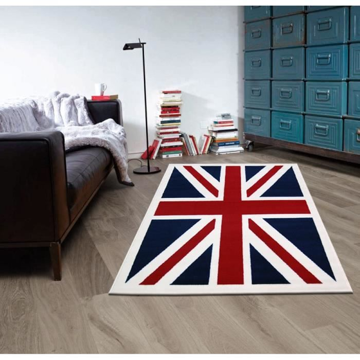 tapis ado union jack vintage beige rouge bleu taille 120 x 160 cm achat vente tapis. Black Bedroom Furniture Sets. Home Design Ideas