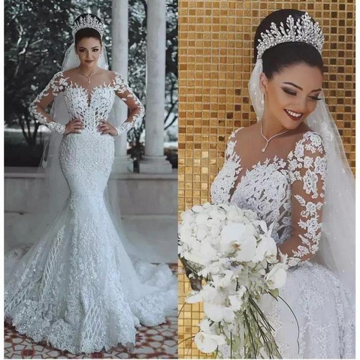 robe en dentelle de mariée - 65% remise -